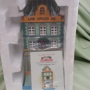 "Dept.56 Monopoly ""Law Offices Inc."